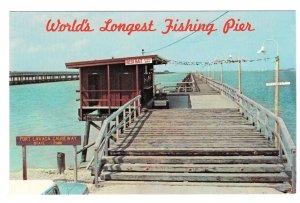 Port Lavaca TX Worlds Longest Fishing Pier Causeway State Park Vtg Postcard