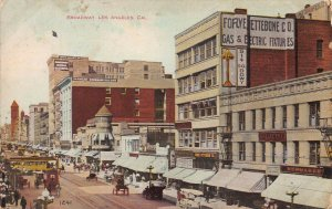 Broadway, Los Angeles, California, Early Postcard, Used in 1908