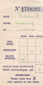 Innsbruck 1950s Complaint Rating Austria Hotel Receipt