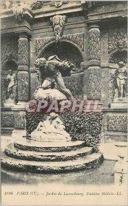 Postcard Old Paris (sixth) Luxembourg Gardens Medici Fountain