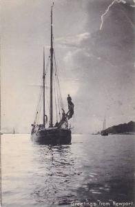 Sailboats, Greetings From Newport, Rhode Island, PU-1905