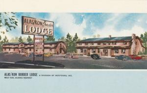 Illusrtation of Alas/Kon Border Lodge, Alaska Highway, Yukon Territory, Canad...