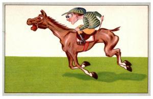 Jockey on Race Horse,