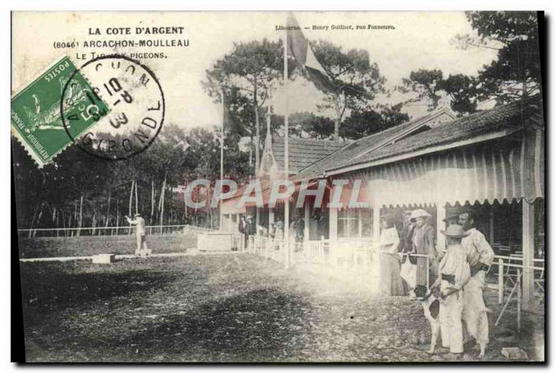 Old Postcard Arcachon Moulleau The pigeon shooting