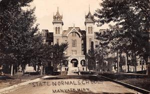 Mankato MN Normal School~Old Main Twin Towers (Senior Living Center) RPPC 1910