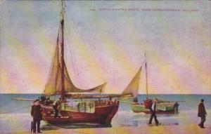 Dutch Fishing Boats Near Scheveningen Holland