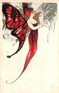 Samuel Schmucker Butterfly Unused minimal yellowing from age, light marking f...