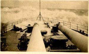 Military - United States Navy. Rough Seas, WWI  ***RPPC***