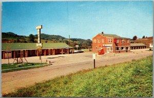Laurel Springs, NC Postcard MYERS MOTOR COURT Highway 19 Roadside c1960s Unused