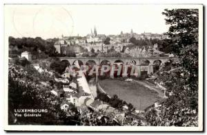 Luxembourg Old Postcard General view