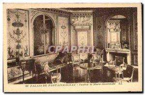 Old Postcard Palais De Fontainebleau Boudoir of Marie Antoinnette