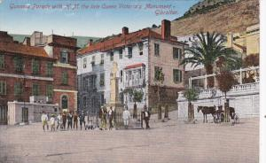 GIBRALTAR, 1900-1910´s; Gunners Parade With H.M. The Late Queen Victoria's M...