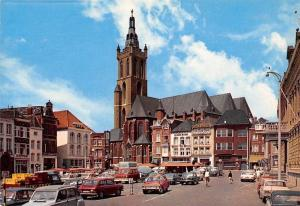 Netherlands Roermond Markt, Street Cars Voitures Cyclists, Church Eglise