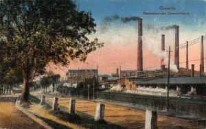 Poland Gleiwitz Gliwice factory industry feldpost Postcard