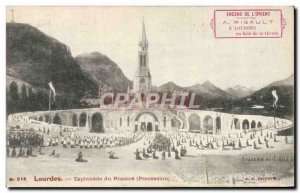 Old Postcard Lourdes Esplanade of the Rosary