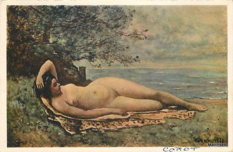 Austrian Nude woman Artist Circa 1905 Bacchante by the Sea postcard 5350