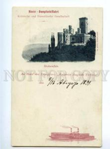 151592 Germany RHEIN STEAM Stolzenfels Castle KAISERIN AUGUSTE