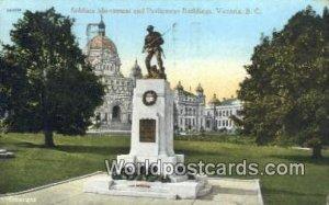 Soldiers Monument & Parliament Buildings Victoria British Columbia, Canada 199