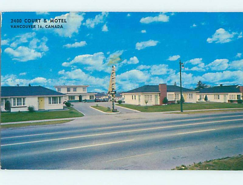 Pre-1980 POSTCARD - 2400 COURT MOTEL Vancouver British Columbia BC o0645