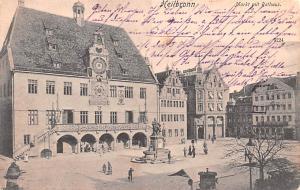 Heilbronn Germany Markt mit Rathaus Heilbronn Markt mit Rathaus