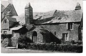 postcard Cornwall TINTAGEL OLD 14th Century COTTAGE,  posted 1937