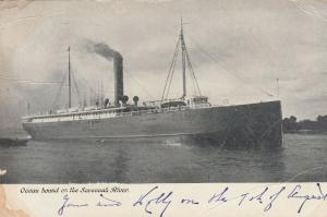 SAVANNAH , Georgia , 1909 ; Ocean Liner on the River