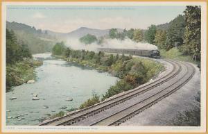 B&A, RR ROW, Berkshire Hills Between Russell & Huntington Mass.-Steam loco