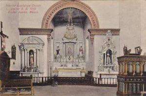 Interior Guadalupe Church, Erected A. D. 1549, Ciudad Juarez, Mexico, 1900-1910s
