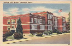 Exterior,  Windham High School,   Willimantic, Connecticut,  30-40s