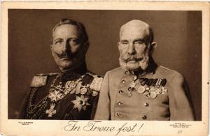 CPA AK Freue Fest Kaiser Wilhelm II Kaiser Franz Joseph GERMAN ROYALTY (701686)