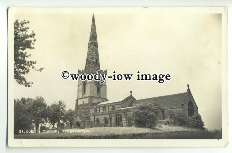 cu2053 - St.John's Church, in Kingsthorpe c1950 - Postcard