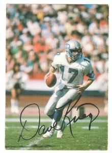 American Football Player Dave Kreig, Seattle Seahawks, 70-80s