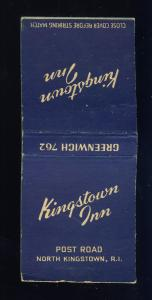 North Kingston, Rhode Island/RI Matchcover, Kingston Inn