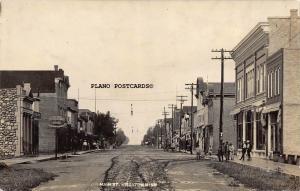 WHEATON, MINNESOTA MAIN STREET &  STATE BANK-EARLY 1900'S RPPC REAL PHOTO P.C.
