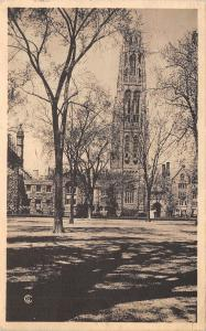 New Haven Connecticut~Yale University~Harkness Memorial Tower~1944 Postcard