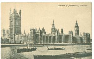 Houses of Parliament, London, early 1900s unused Postcard