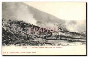Postcard Old Volcano Vesuvius Napoli Washing nell Atrio del Cavallo