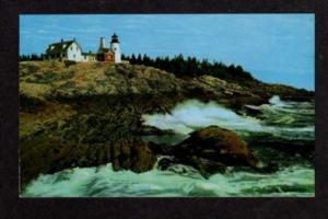 ME Pemaquid Point Lighthouse MAINE Postcard Light House