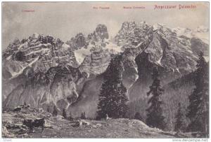 Ampezzaner Dolomiten mountan view Critallin, Pic Popena, Monte Cristallo, Tir...