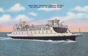 Motor Ship Manatee, Bee Line Ferry Boats Inc., St. Petersburg, Florida, 30-...