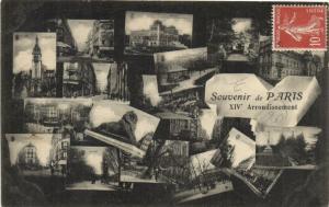 CPA Paris 14e (Dep.75) - Souvenir de Paris (56482)
