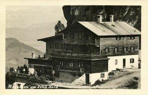 austria, KITZBÜHELER HORN, Tyrol Tirol, Alpenhaus (1940s) RPPC Postcard (2)