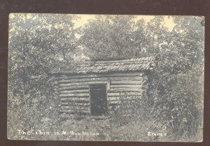 RPPC BRANSON MISSOURI SHEPHERD OF THE HILLS MU HOP CABIN REAL PHOTO POSTCARD