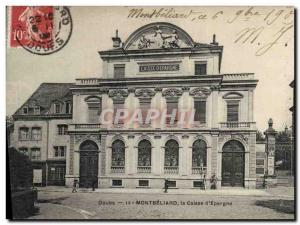 Old Postcard Bank Caisse d & # 39Epargne Montbeliard