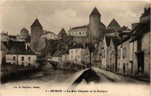 CPA SEMUR - La Rue Chaude et le Donjon (354208)