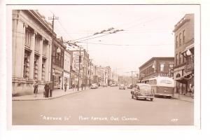 Real Photo Arthur St, Port Arthur, Ontario, Thunder Bay, Bus