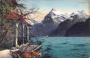 Switzerland Old Vintage Antique Post Card Tellskapelle Unused