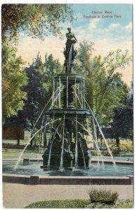 Clinton, Mass, Fountain in Central Park