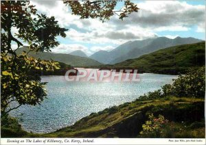 Modern Postcard Evening on the Lakes of Killarney Co Kerry Ireland