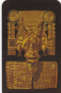 Reproduction of the God of Death in Solid Gold, Monte Alban, Oaxaxa, Mexico...
